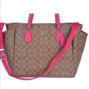 🥃-COACH- large signature tote bag